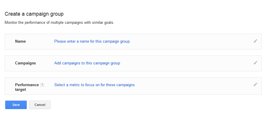adwords campaign grouping